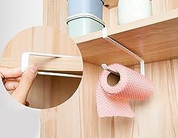DreamColor Kitchen Cabinet Cupboard Under Shelf Storage Paper Towel Roll Holder Dispenser Napkins Storage Rack