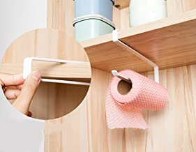 DreamColor Kitchen Cabinet Cupboard Under Shelf Storage Paper Towel Roll Holder Dispenser Napkins Storage Rack