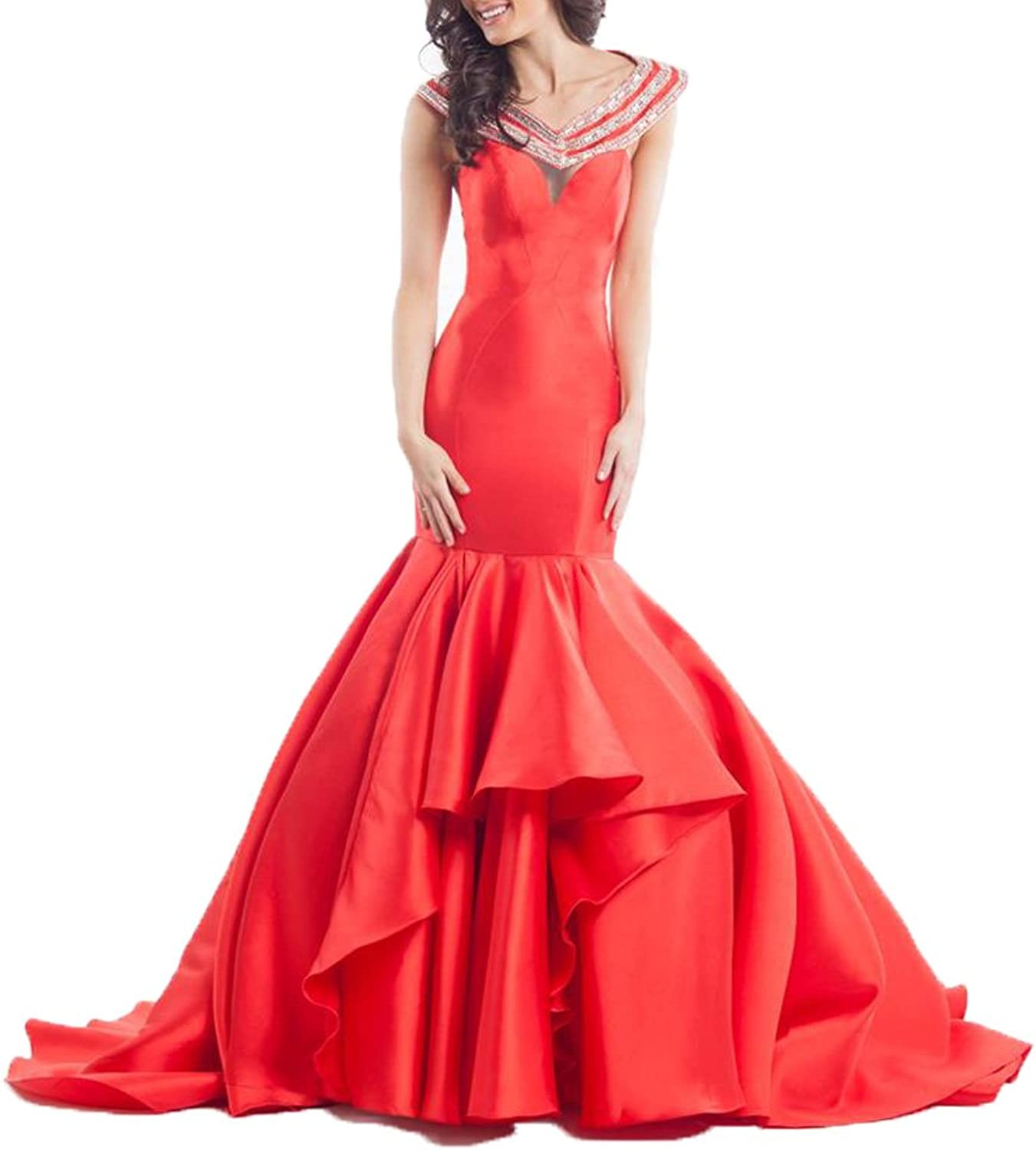 Ellenhouse Beaded Long Halter Pageant Evening Dress Backless Prom Gowns EL088