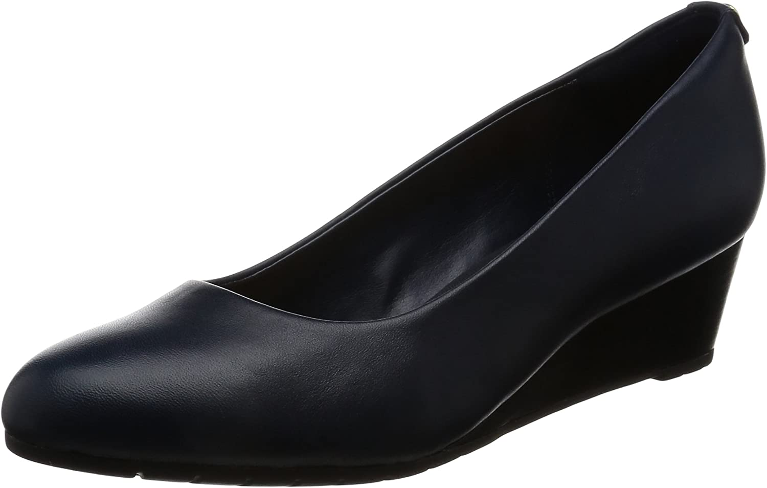 Clarks Vendra Bloom - Navy Leather Womens Heels