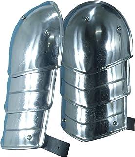 NAUTICALMART Medieval MERC Steel Pauldrons Shoulder Armour Silver One Size