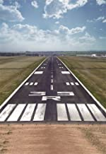 AOFOTO 3x5ft Airport Runway Backdrop Photography Studio Props Airfield Pavement Background Outdoor Sky Clouds Digital Photo Shoot Video Drop Travel Scene Girl Boy Child Artistic Portrait