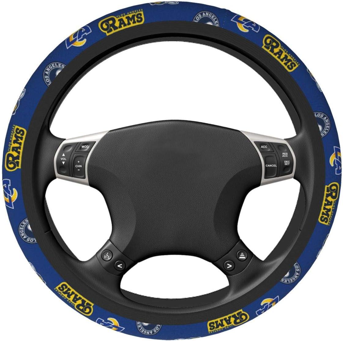 Cramnrgt Pittsburgh Football Team Fans Steering Wheel Cover Universal 15 Inch Anti-Slip Neoprene Automotive Steering Wheel Cover