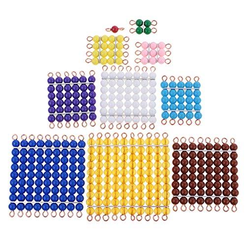 joyMerit Montessori Math Materials Mathematik Farbige Perle Treppen Platz 1 Bis 10 Kinder Frühen Vorschule Lernen Unterricht Spielzeug Geschenk