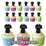 La Rochelle prédécoupée Rugby Chemises comestible pour cupcakes/gâteau Décorations (lot de 12)