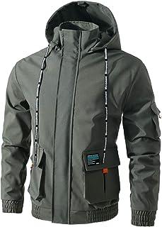 Jueshanzj Men's Zipper Jacket with Hooded