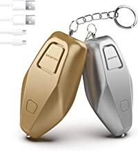 Upgraded 140dB Safety Alarm, USB Rechargeable Safesound Personal Alarm for Women, Security Personal Alarm Keychain with LE...