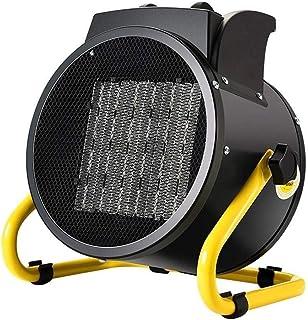 Calentador Xiao Jian-calefactores electricos 2000w Calentador de Ventilador Industrial con la protección del sobrecalentamiento, Calentador eléctrico for Taller de fábrica Granja Invernadero - Negro
