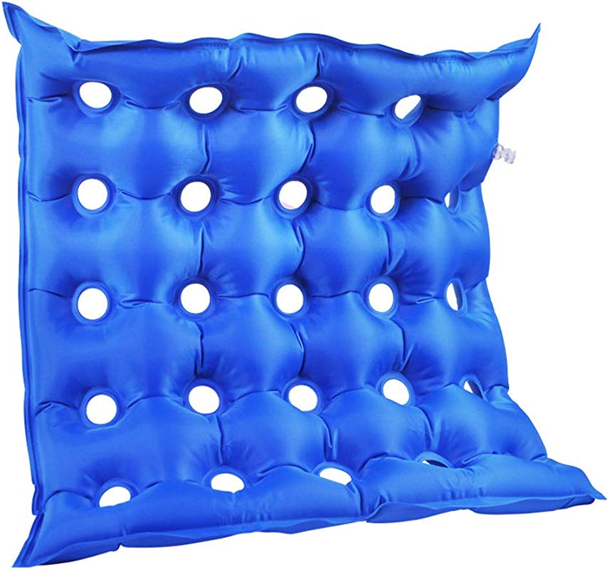 Lovt Inflatable Chair Pad Seat Cushion Anti Bedsore Prevent Decubitus Mat Square Anti Decubitus Mattress With Pump Ideal For Prolonged Sitting 1 Pack Blue