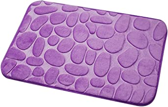 Bathroom Mat, 40 * 60cm 3D Cobblestone Non-Slip Water Absorbent Mat Pad Bathroom Kitchen Rug Soft for Bathroom Kitchen Liv...