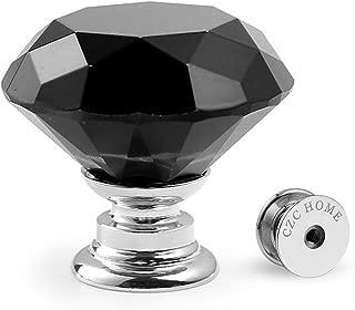 Best black glass drawer pulls Reviews