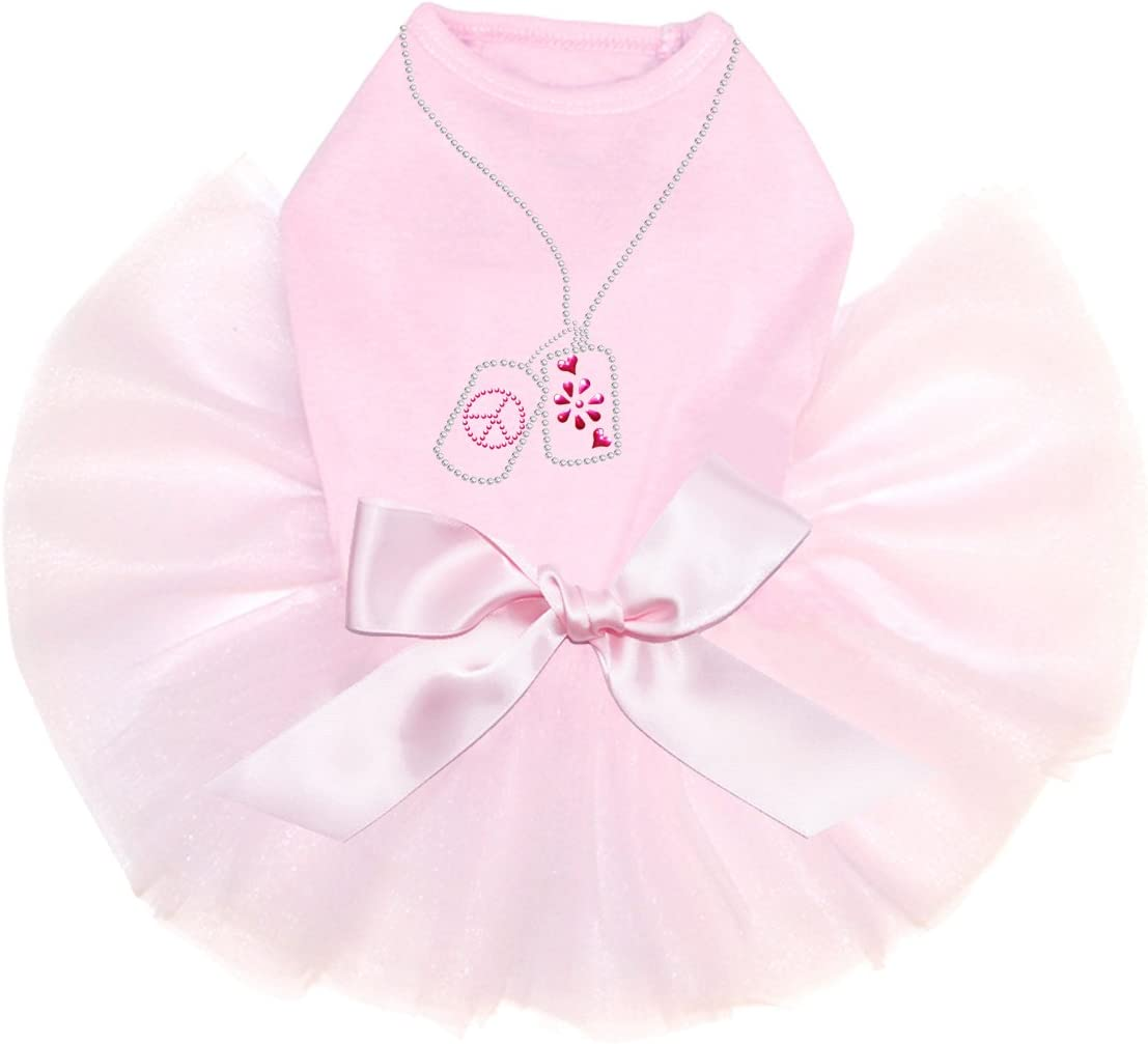 Dog Tag Necklace #2 - Excellent Bling Tutu Pink Rhinestone Outlet ☆ Free Shipping Dress 4XL