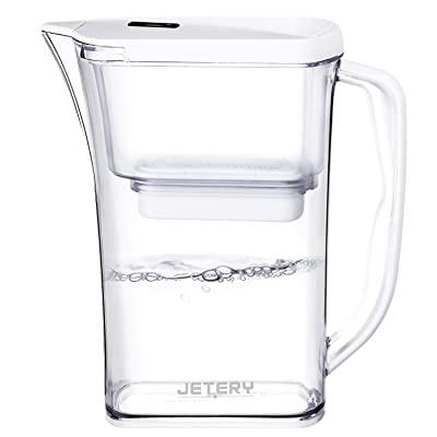 JETERY 8-Cup Water Filter Pitcher