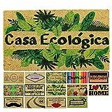 LucaHome - Felpudo Coco Natural 40x70 Antideslizante, Felpudo de Coco casa ecológica, Felpudo Absorbente Entrada casa, Ideal para Exterior o Interior