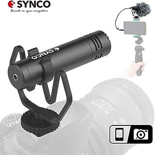 SYNCO M1 Micrófono-Cámara-Reflex-DSLR-Externo Shotgun Micrófono Direccional para Camara y Móvil Microfono DSLR Condensador Supercardioide Compatible para Cámara Canon Sony Nikon Panasonic