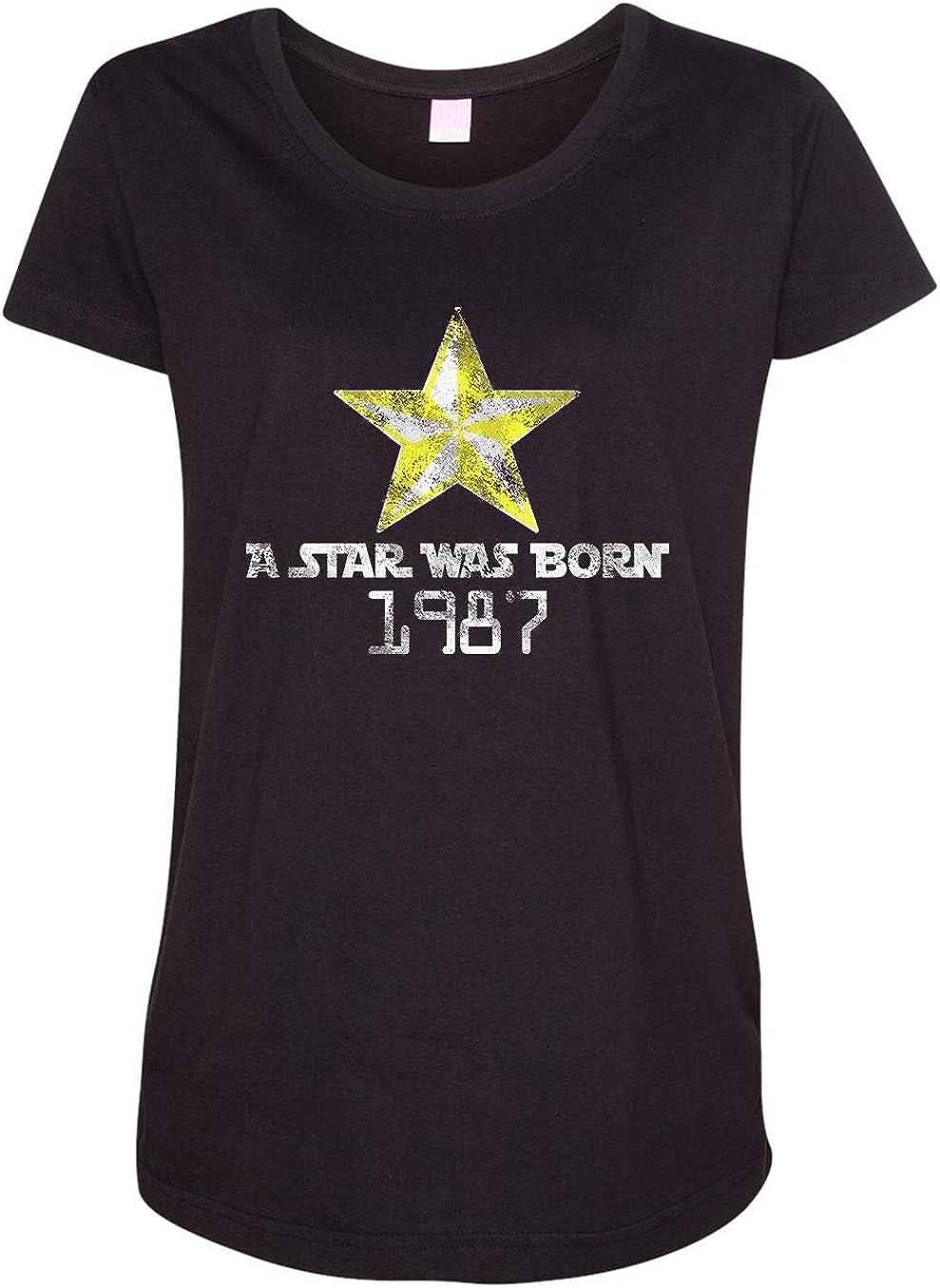 HARD EDGE DESIGN Women's A was Ranking TOP19 Star Max 57% OFF T-Shirt 1987 Born