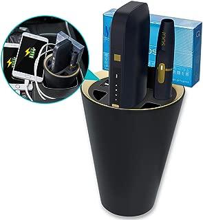 アイコス対応 充電器 車用 ホルダー・ポケットチャージャー・スマホ 三方同時充電可能 車載灰皿付き 多機能 車載用充電器 IQOS専用マルチチャージャー スタンド充電 IQOS2.4/2.4PLUS対応