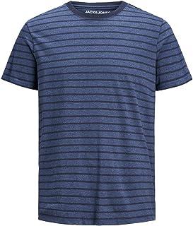 JACK & JONES Men's Jjestriped Tee Ss Crew Neck Sts T-Shirt
