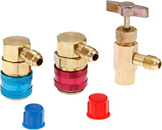 R134a High Low Quick Couplers and Can tap Set for Charging Recovery with R12 R22 Manifold Gauge