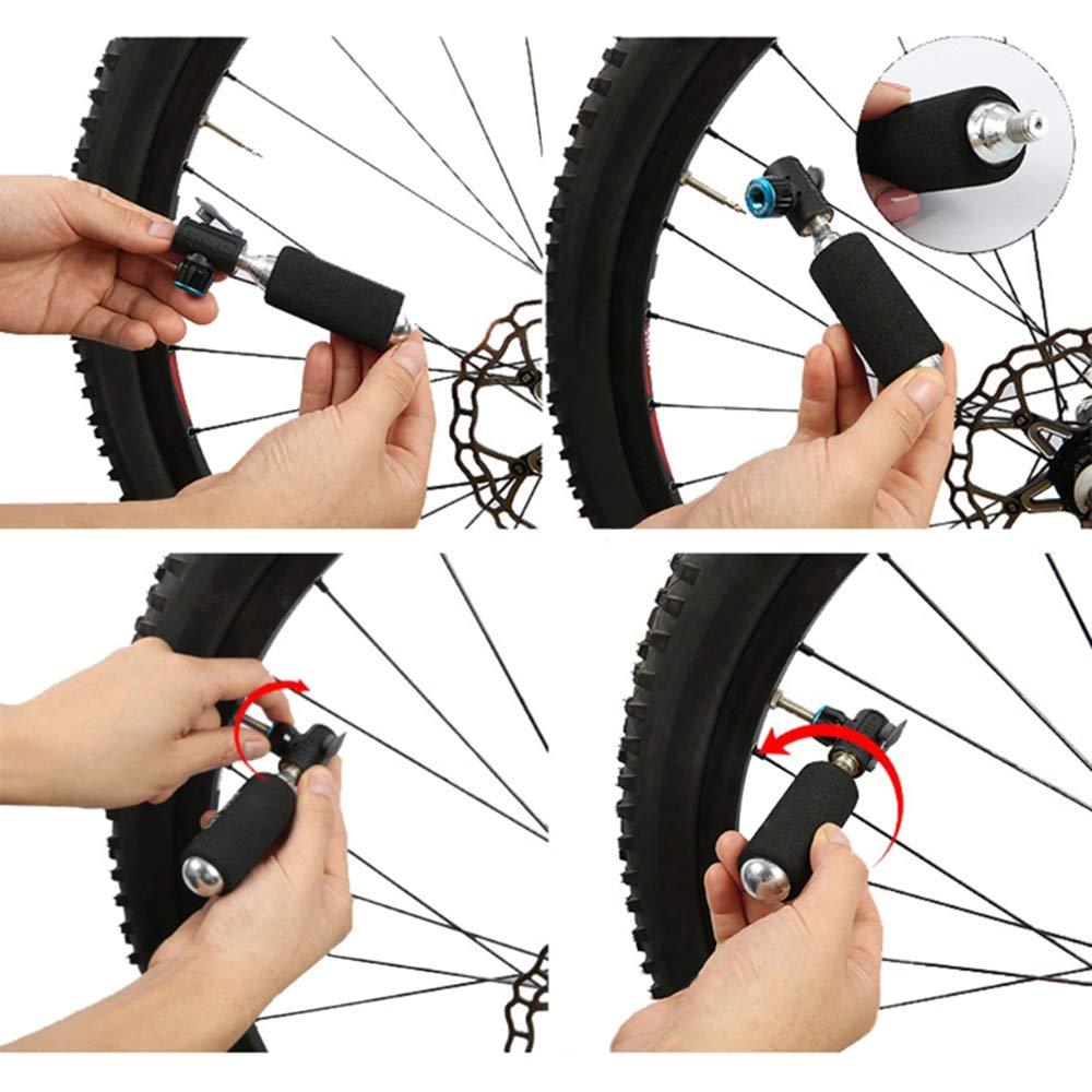 Explopur Cabeza de inflador de Aire de CO2 - Bicicleta de inflado ...