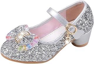 [Yudesunyds] キッズ メアリージェーン 靴 - サンダル 子供 女の子 裁判所の靴 プリンセススタイル 可愛い キラキラ ドレス パーティー ダンス お祝い