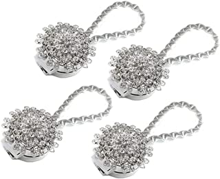 Sycle cirkel 2 Pack Magnetische Gordijn Tie Backs, Decoratieve Pauw Crystal Gordijn Holdbacks voor Slaapkamer, Woonkamer, ...