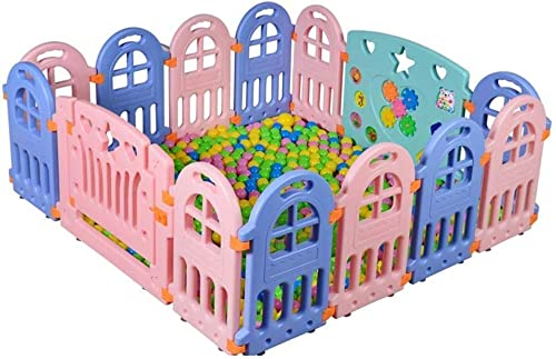 Baby Laufstall - Kids Activity Center Sicherheit Spielplatz Baby Zaun Spielbereich - Baby Gate Home Indoor Outdoor New Pen (Größe   16 Panels - 155x192x60cm)