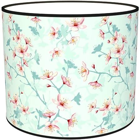 Abat-jours 7111309498405 Imprimé Elise Lampe de Chevet, Tissus/PVC, Multicolore