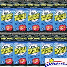 (10) 2017 Topps Archives Baseball EXCLUSIVE Factory Sealed Fat Packs with Total of (180) Cards! Look for Autographs of Aaron Judge, Mike Trout, Sandy Koufax & More! Look for Derek Jeter Retrospective!