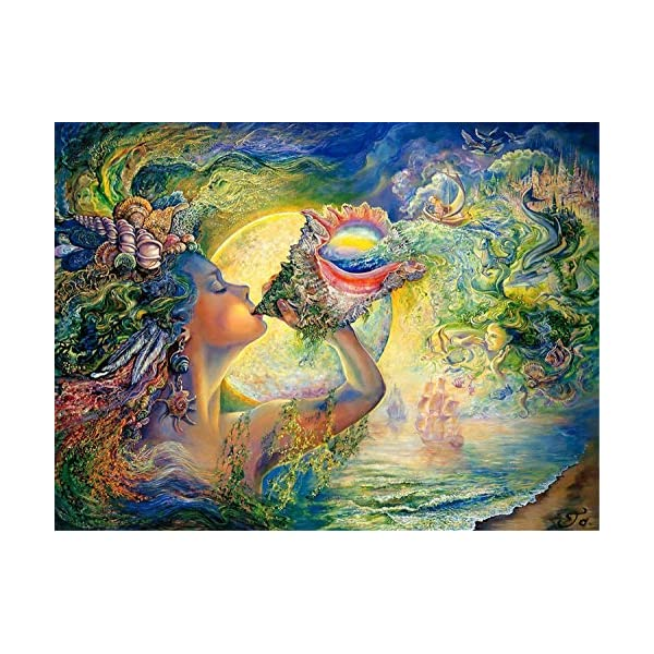 Jigsaw Puzzles 1000 Pieces for Adults, Painting Style Puzzles Gift for Kids Senior...