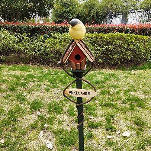 Bird House Welcome Card Country Style Cottages Bird House Hanging Décoration for les petites oiseaux Cabine Birdhouse Rétro Steeple Creative bois en plein air Birdhouse oiseaux Maison for les petits o