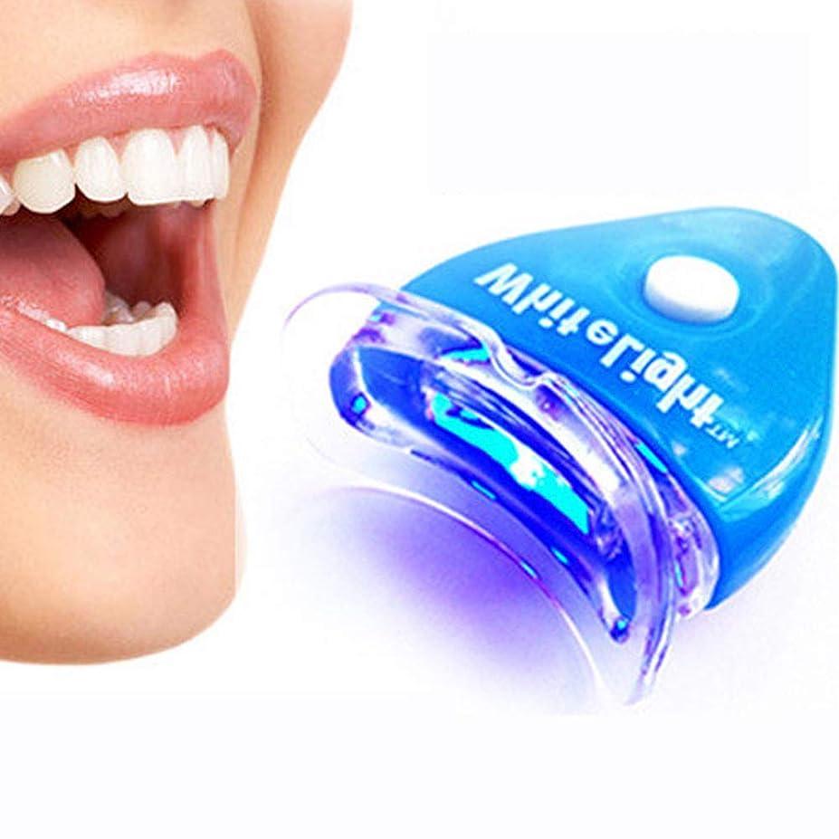 情緒的リングレット刈り取るIPO 歯ホワイトニング器 歯美白器 美歯器 歯 ホワイトニング ホワイトナー ケア 歯の消しゴム 歯科機器 口腔ゲルキット ブルー