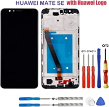 swark LCD Display Compatible with Huawei Mate SE/Huawei Honor 7X BND-TL10 BND-AL10 BND-L21 BND-L22 BND-L24 (Black with Frame) Touch Screen + Tools (Huawei Logo)