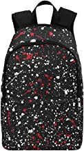 HUAPIN Splatter Abstract Grunge Casual Daypack Travel Bag College School Backpack for Mens and Women