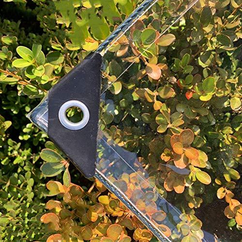 Lona Transparente,Plegable PVC Transparente Cortina Impermeable con Ojales,Cubierta de Lona Protección Reforzada para Pérgola Al Aire Libre,Terraza,Planta,Piscina,Camping (1.2x3m/4x10ft)