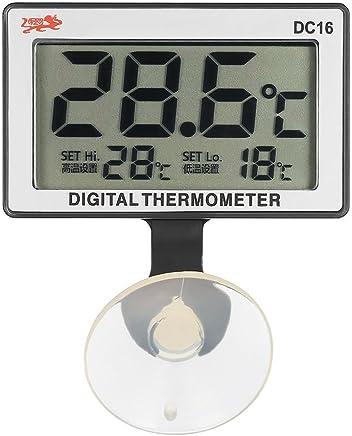 Anself LCD Digital Aquarium Thermometer Fish Tank Submersible Water Temperature Meter 0℃-50℃ High/Low Temperature Alarm