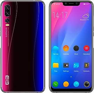 ELEPHONE A5 SIM-無料スマートフォン - 6.18インチFHD +超薄型フルスクリーンAndroid 8.1超携帯電話、Helio P60 6GB + 128GB、AI 5カメラ(20MP + 2MPフロントカメラ)、4000mAhバッテリー - スターリーブルー