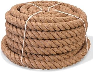 vidaXL Seil 100% Jute 20mm 50m Naturhanf Hanfseil Tauwerk Juteseil Tau Seil
