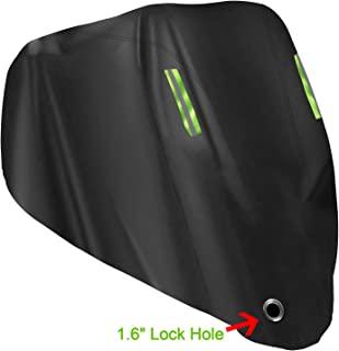 Motorcycle Cover Waterproof Outdoor - XXL Scooter Cover for Harley Davidson Honda Suzuki Yamaha All Weather Protection Motorcycle Accessories for Men