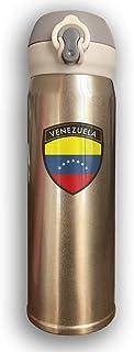 Bestqe Venezuela Crest Doble pared con aislamiento al vacío de acero inoxidable Botellas de agua Taza de viaje Termo de agua 17 Oz