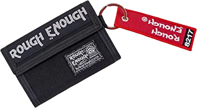 Rough Enough Cool Travel Wallet Card Case Holder Pouch Organizer for Women Men Boys Girls Sport School Business with Zipper pocket Compartment Smart Rigid Tactical Badge Crew Tag Key Chain Raw Designe