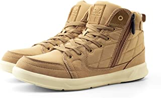 PUCA Mens High-ankle Boot Shoes with Mesh and Micro-Fibre Outer | Light Weight | Slip Resistant | Light Sand Color