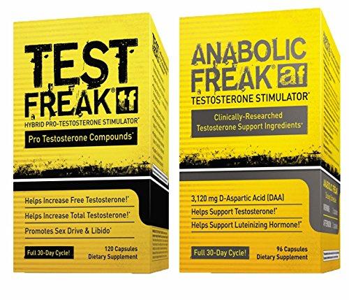 (1) PharmaFreak Test Freak - Testosterone Booster and (1) PharmaFreak Anabolic Freak - Testosterone Stimulator