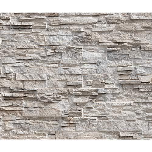 *decomonkey Fototapete Steinwand Stein 350×256 cm XL Tapete Wandbild Wandbild Bild Fototapeten Tapeten Wandtapete Wandtapete Steinoptik Mauer Ziegel beige*