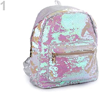 1pc White Ab Backpack with Reversible Sequins 28x31cm, Childrens and Girls Bags & Backpacks, Fashion Accessories