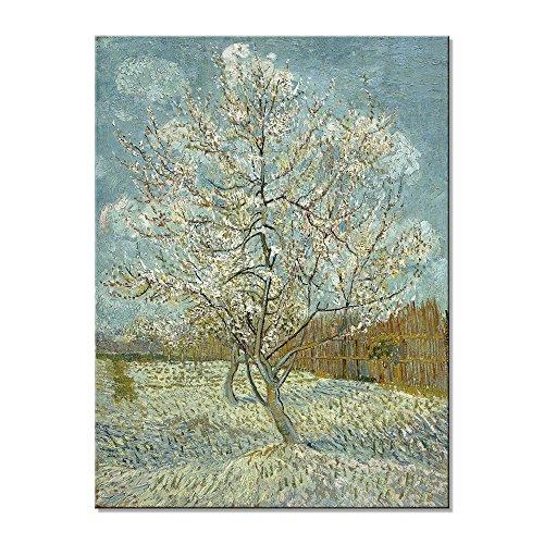 Wieco Art–Cuadro El Melocotonero de Van Gogh, reproducción de famosos pinturas al óleo, galería moderna, sobre lienzo, para la decoración del hogar