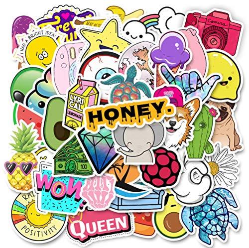 QIANGWEI 50 Stks Leuke Cartoon Art Print Home Decoratie Wandmontage Notebook Telefoon Bagage Laptop Skateboard Album Graffiti Waterdichte Kinderen Diy Stickers