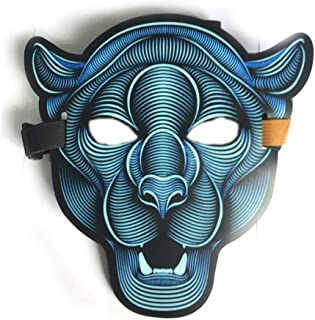 WNGCAR AU Halloween LED Luminous Animal mask Voice-Activated Glowing Ghost mask Follows The Rhythm of Music