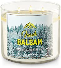 Bath and Body Works White Barn Fresh Balsam 3 Wick Candle Made With Essential Oils 14.5 Ounce