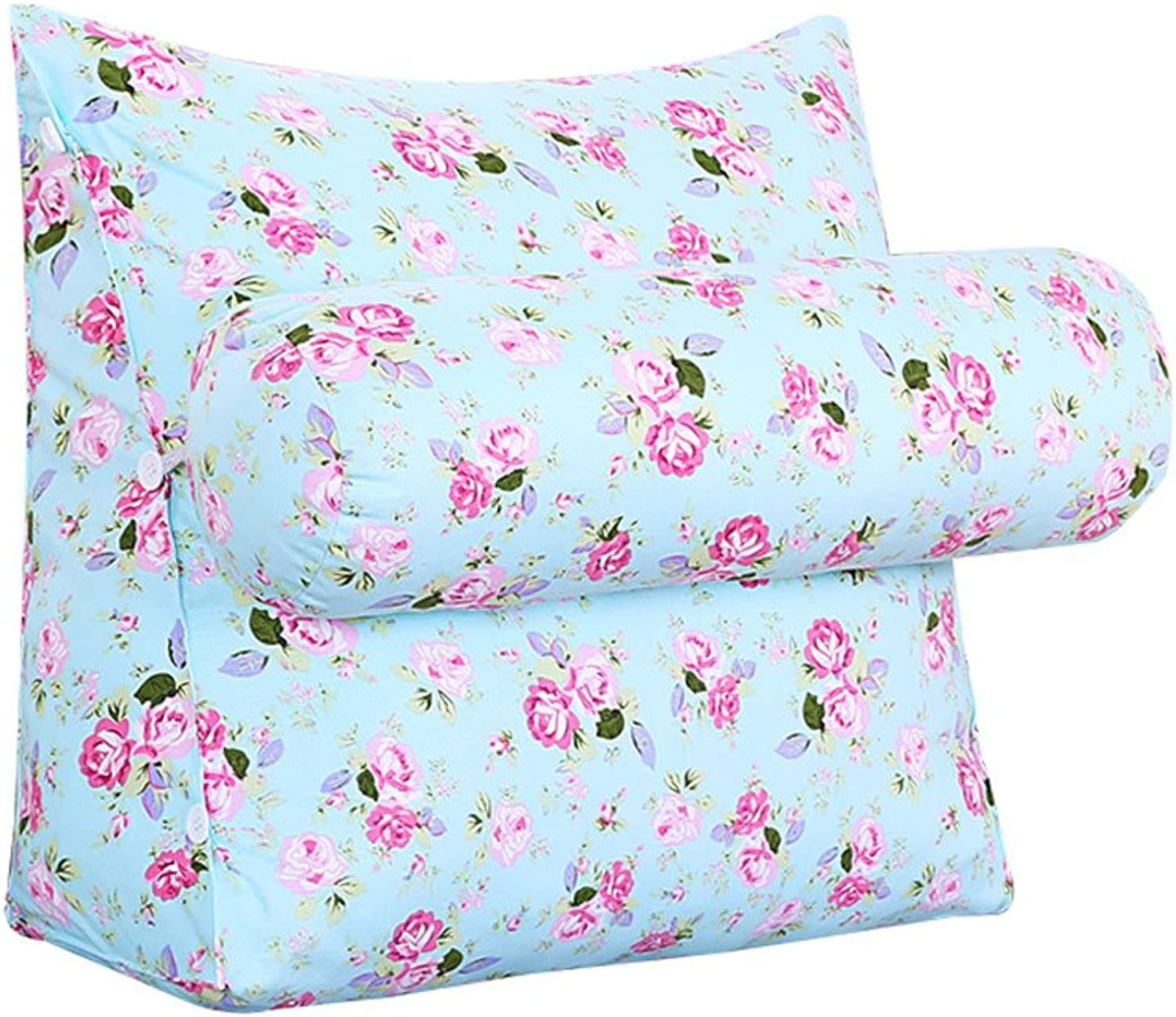 DDSS Bed cushion Sofa Bed Headrest Triangle Bedside Pillow with Headrest Bay Window Cushion Back Office Pillow Lumbar Pillow Backrest Waist Pads Flower Pattern  -